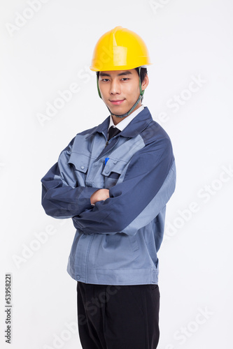 Young Asian engineer.