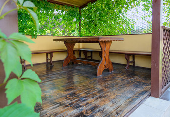 table on the veranda