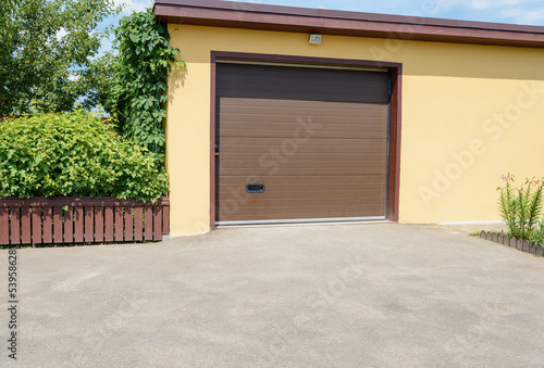 yellow garage
