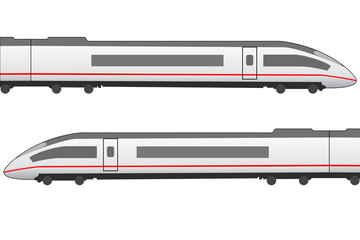 High speed trainset side view