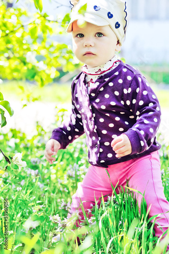 baby in spring time