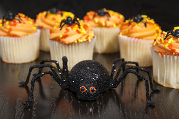 Spooky Spider with Halloween Cupcakes