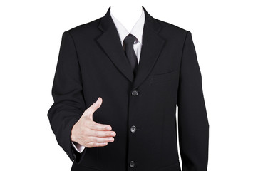 Template businessman shake hands, included clipping path