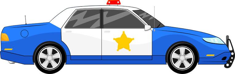 blue police car vector