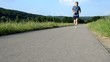 Jogging Straße Sprung