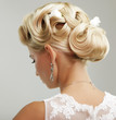 Beauty wedding hairstyle. Bride - 53962845