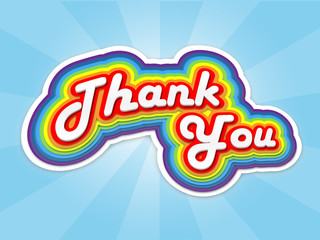 """THANK YOU"" Card (thanks appreciation gratitude very much a lot)"