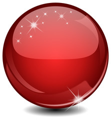 Red glossy sphere