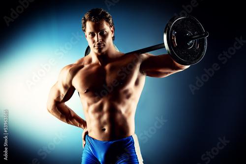 Fototapeten,bodybuilder,workout,gewichten,tau