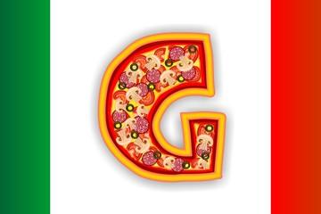 PIZZA - LETTER - G of the alphabet