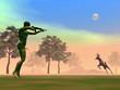 Hunting scene - 3D render