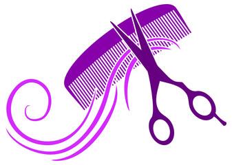 Logo für Schönheitssalon in violett