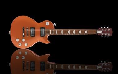 Orange Guitar On lack Background