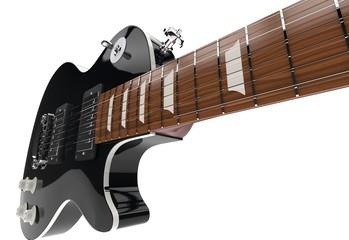 Black Guitar Closeup