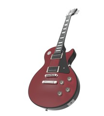 Dark Red Electric Guitar