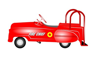 kids pedal car from fifties and sixties