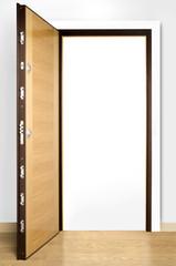 Wooden doors with lock 18