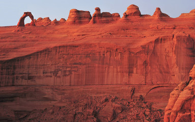 panoramic delicate arch and red rock,arches national park, utah