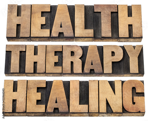 health, therapy and healing words