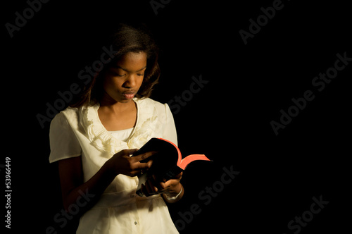 Young Bible reader.