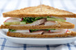 Vollkorn Sandwich mit Forelle