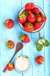 frische Erdbeeren mit Joghurt