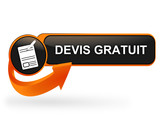 devis gratuit sur bouton web design orange