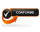 conforme sur bouton web design orange poster