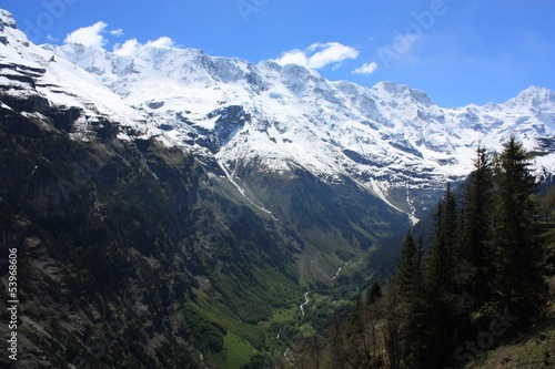 Swiss Alps landscape near Interlaken in Europe.