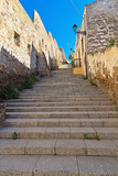 stairway and ancient walls in Carloforte