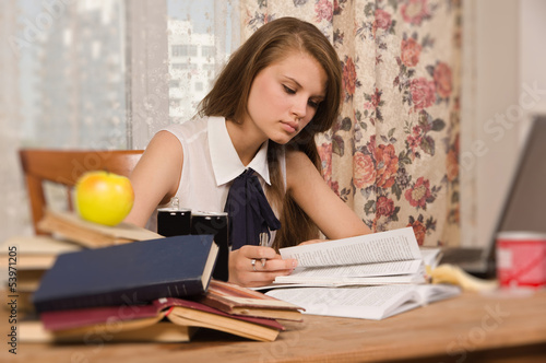 Student preparing for an exam
