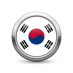 South Korean flag icon web button