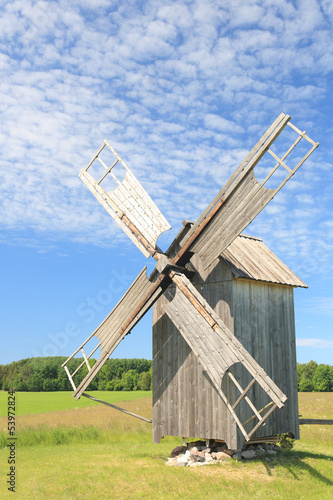 Old wooden windmill, Hiiumaa island, Estonia