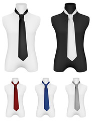 Necktie on mannequin template