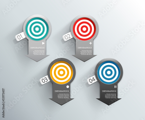 Set of colorful arrow labels for wide variety of use.