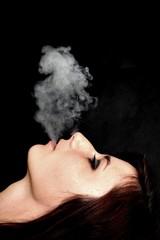 woman smoke