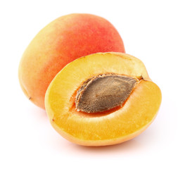 Fresh apricot in closeup