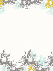 Blue-grey abstract floral background, vector