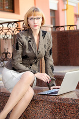young business woman outdoor