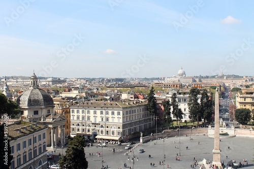 View of Piazza del Popolo in Rome from the Pincio