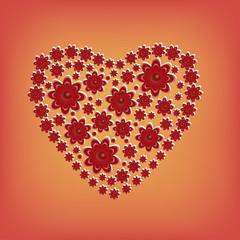 heart of flowers