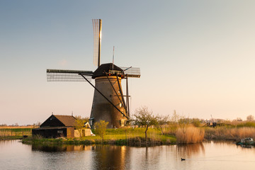 Windmill in Kinderdijk, Netherlands