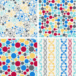 Molecular structure seamless patterns.