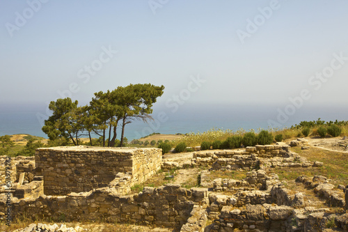 Ancient Kamiros on the island of Rhodes, Greece.