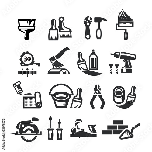 Repair Icons. Vector illustration