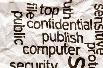 Confidential publish computer
