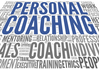 Coaching concept tag cloud