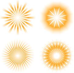 sun - sunbeam pattern icon set