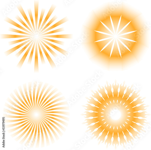 sun - sunbeam pattern icon set