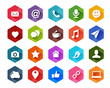 Flat Social Media Icons for Light Background